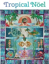 Tropical Noel applique pattern