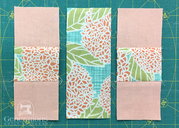 Sew a #3/#2/#3 to each side of #1