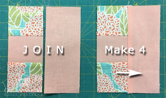 Sew #6/#5/#6 to each #4