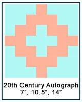 Twentieth Century Autograph quilt block