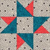 Twin Star quilt block