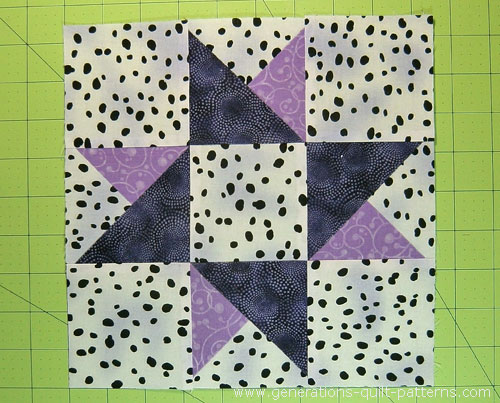 Twinkle Twinkle Twin Star Quilt Block 6 Quot 7 1 2 Quot 9