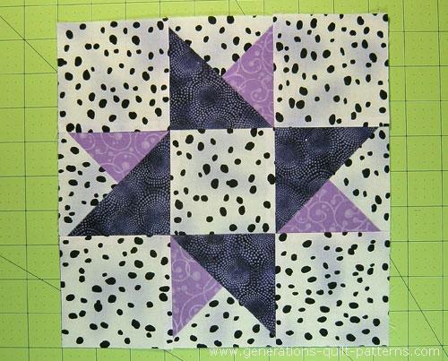 """Twinkle! Twinkle! Twin Star Quilt Block: 6"""", 7-1/2"""", 9"""