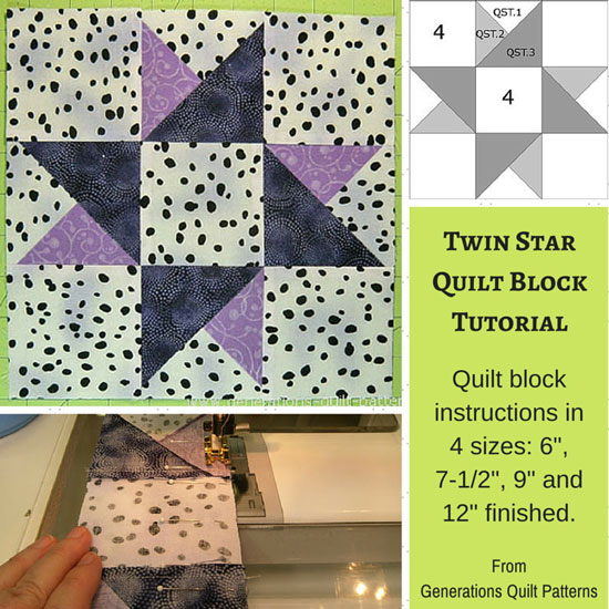 The Twin Star quilt block tutorial
