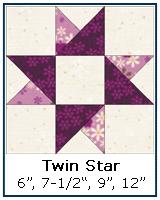 Twin Star quilt block tutorial
