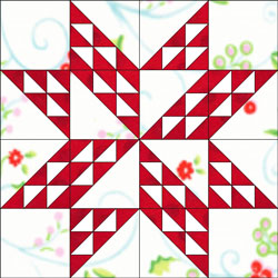 Twinkling Star quilt block design