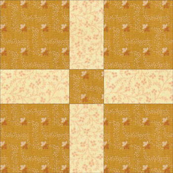 Uneven nine patch quilt block