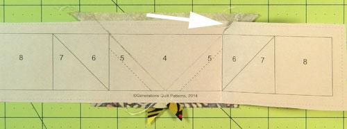 Fold back the pattern on the seamline.