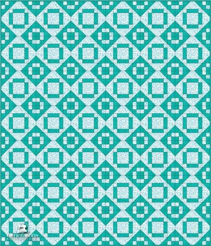 Valley Square quilt blocks set edge-to-edge