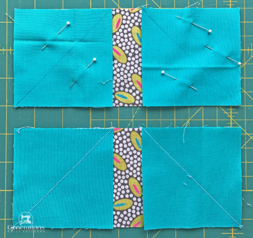 Get the patches ready to sew connector corners