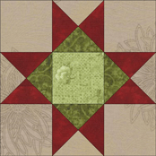 Variable Star quilt block