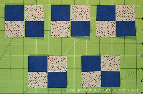 Cut the strip set into 10 equal widths