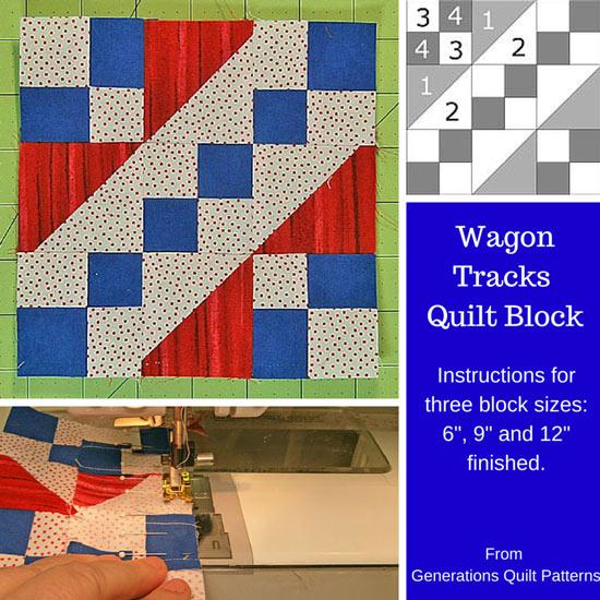 Wagon Tracks quilt block tutorial