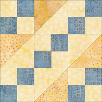 Wagon Tracks quilt block design