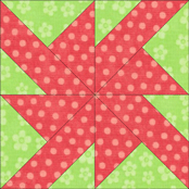 Wheels quilt block