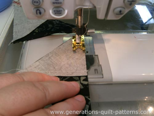 Stitch the second QST seam