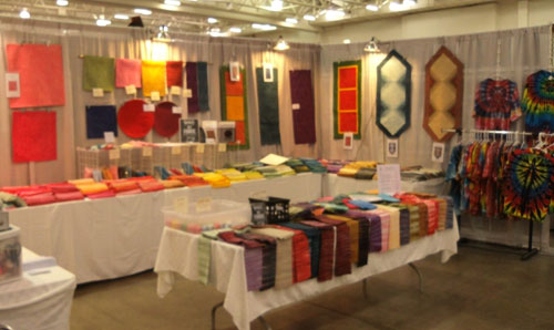 Our booth at the 2013 Wisconsin Quilt Expo