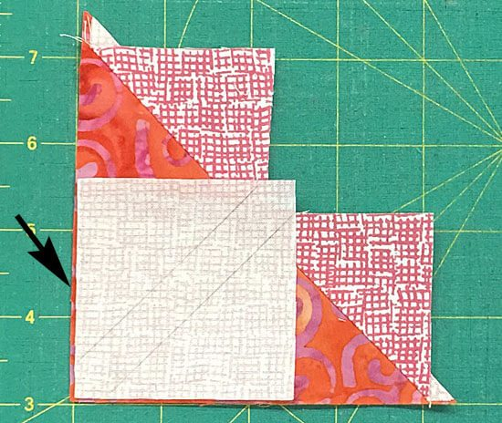 Positioning a smaller square