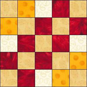 Woven Irish Chain quilt block 1