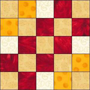 Woven Irish Chain quilt block 1