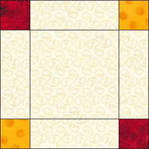 Woven Irish Chain quilt block 3