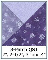 3-Patch Quarter Square Triangle quilt block