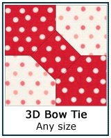 3d Bow Tie quilt block tutorial