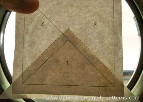 Position Patch 1 using the placement lines