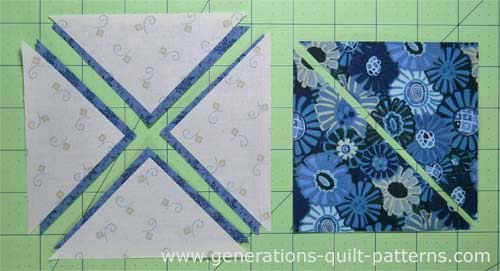 Patches needed to make a 3-patch quarter square triangle
