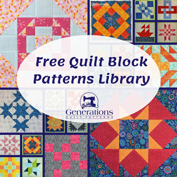 Free quilt block patterns library for blocks whose name starts with N-Z