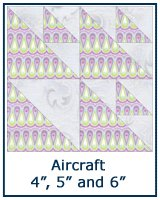 Aircraft quilt block tutorial