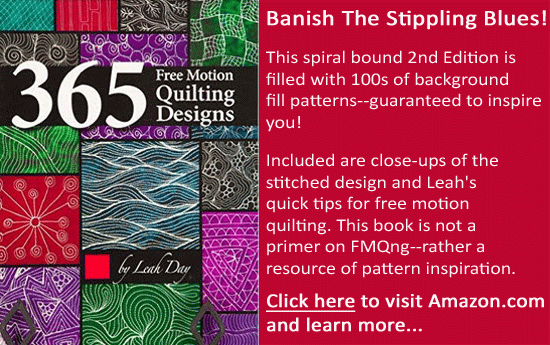 365 Free Motion Quilting Designs by Leah Day, available from Amazon.com