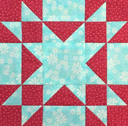 Amish Star quilt block tutorial