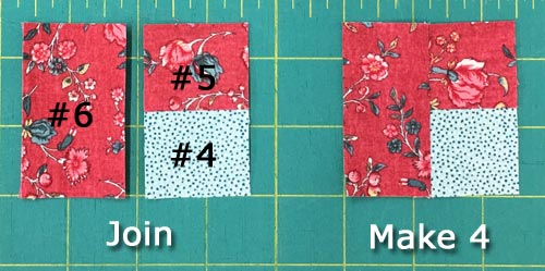 Sew #6 to #4/#5