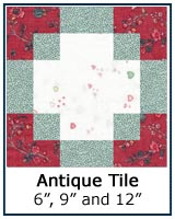 Antique Tile quilt block tutorial