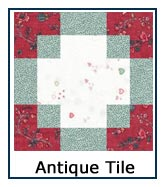 Click here for Antique Tile quilt designs