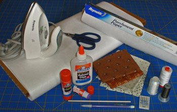 Supplies for invisible machine applique