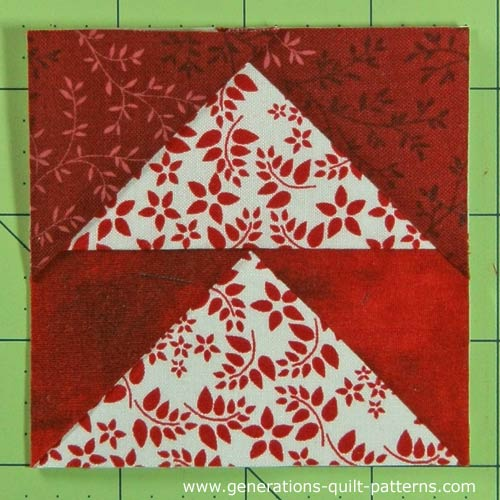 The finished Arrowhead quilt block
