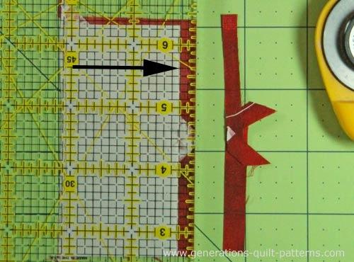 Establish the placement line for Patch #3