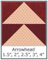 Arrowhead quilt block tutorial