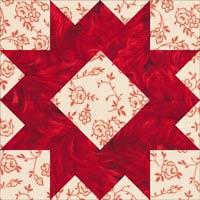 Arrowhead quilt block design, Variation 3