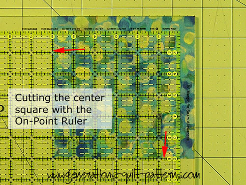 Using the On-Point Ruler to cut Patch #3
