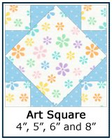 Art Square quilt block tutorial
