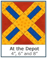 At the Depot quilt block tutorial