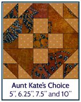Aunt Kate's Choice quilt block tutorial