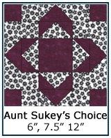 Aunt Sukey's Choice quilt block tutorial