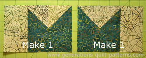 Stitch two mirro image units.
