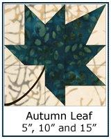 Autumn Leaf quilt block tutorial