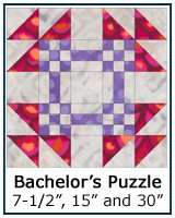 Bachelor's Puzzle quilt block tutorial