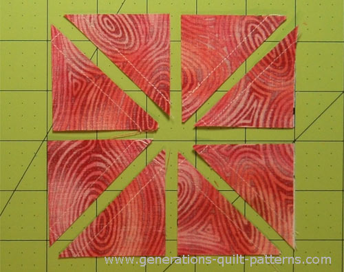 One pair of squares yields 8 hst units after cutting
